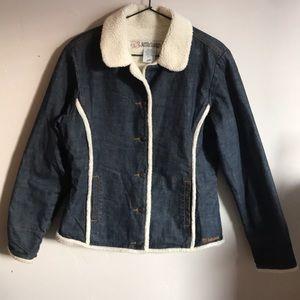 Jackets & Blazers - Billabong Original Denim Sherpa Fleece Jacket